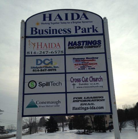 HAIDA Business Park Sign